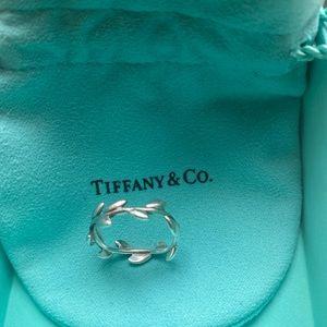 Tiffany & Co. Silver Olive Leaf Band Ring